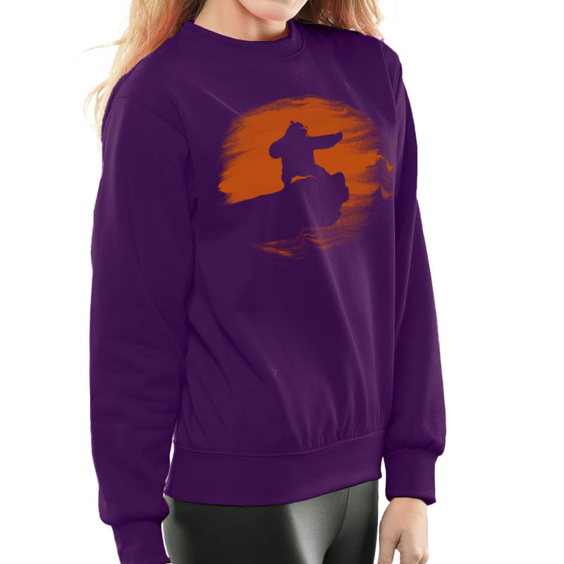 Kung Fu Panda Silhouette Sunset Women's Sweatshirt Women's Sweatshirt Cloud City 7 - 19