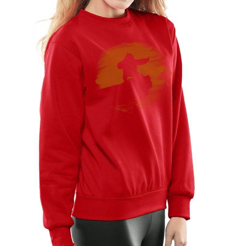 Kung Fu Panda Silhouette Sunset Women's Sweatshirt Women's Sweatshirt Cloud City 7 - 16