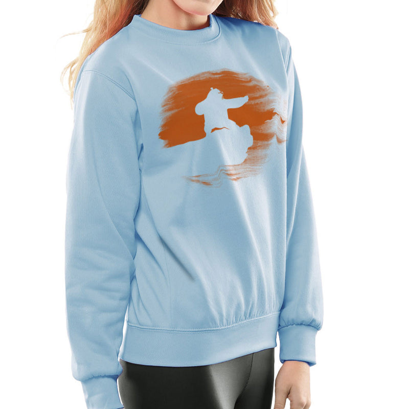 Kung Fu Panda Silhouette Sunset Women's Sweatshirt Women's Sweatshirt Cloud City 7 - 11