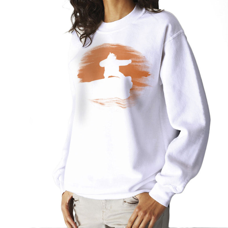 Kung Fu Panda Silhouette Sunset Women's Sweatshirt Women's Sweatshirt Cloud City 7 - 6