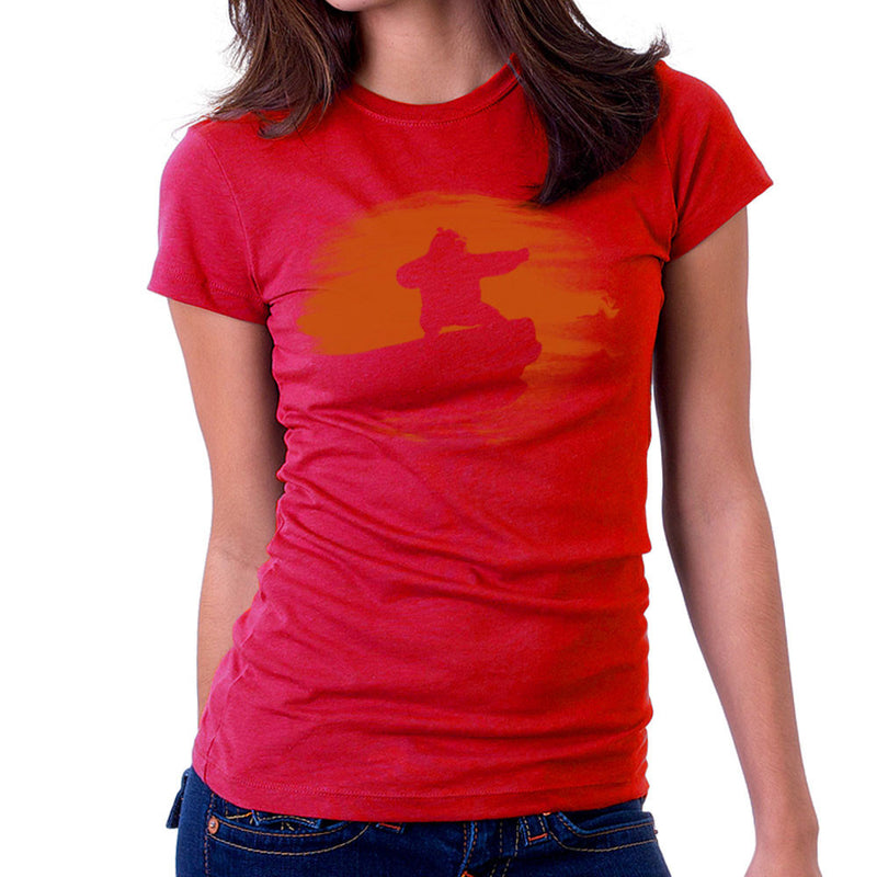 Kung Fu Panda Silhouette Sunset Women's T-Shirt by Sillicus - Cloud City 7