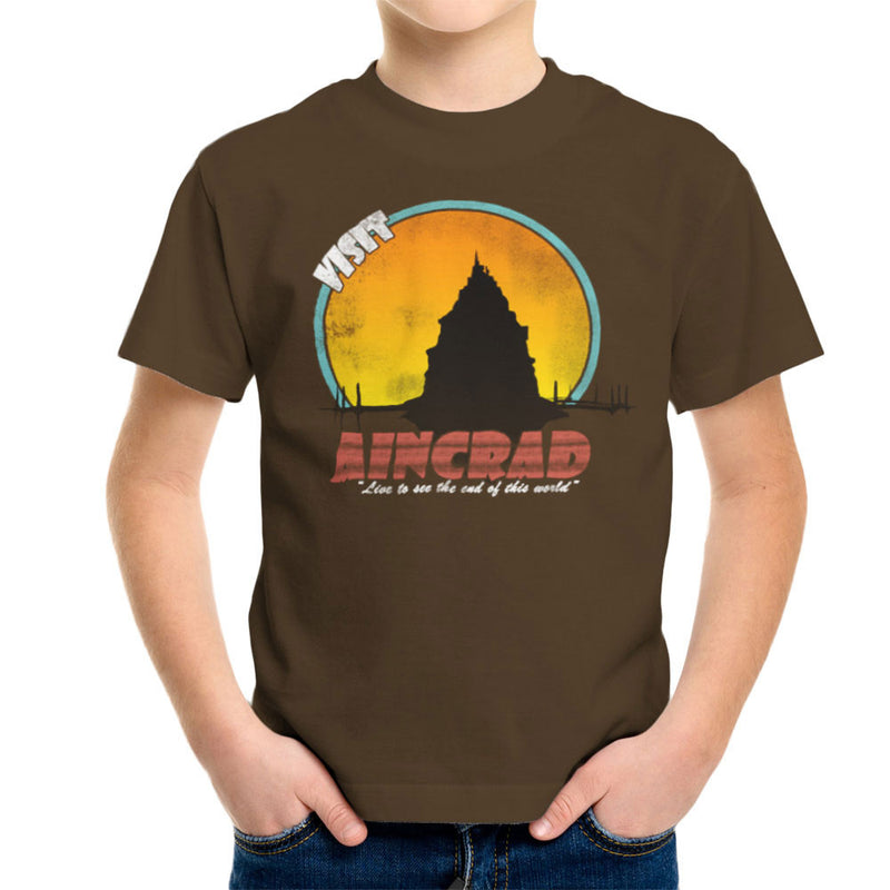 Minecraft Visit Aincrad Kid's T-Shirt by Sillicus - Cloud City 7