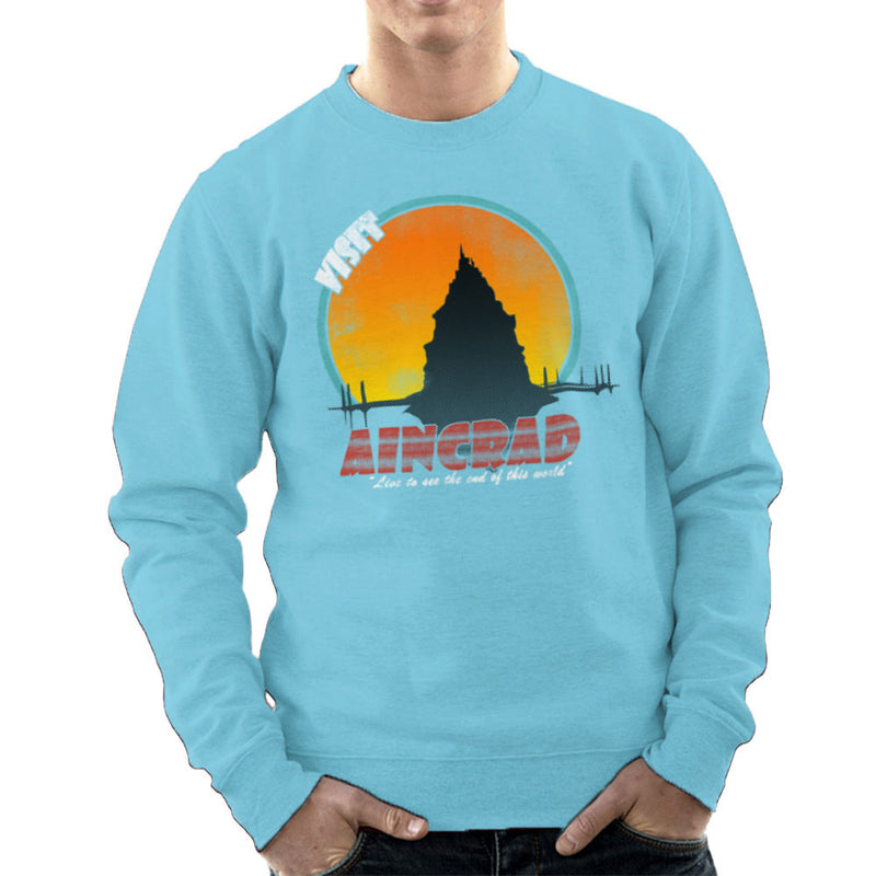 Minecraft Visit Aincrad Men's Sweatshirt by Sillicus - Cloud City 7