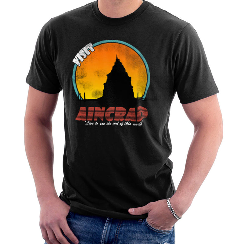 Minecraft Visit Aincrad Men's T-Shirt by Sillicus - Cloud City 7