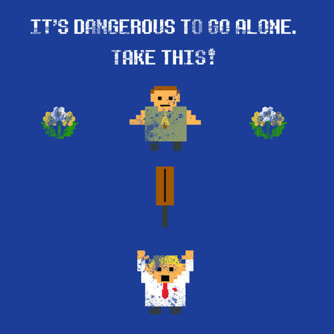 Shaun Of The Dead Pixel 8 Bit It's Dangerous To Go Alone