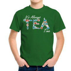 It's Always Tea Time Kid's T-Shirt Kid's Boy's T-Shirt Cloud City 7 - 13