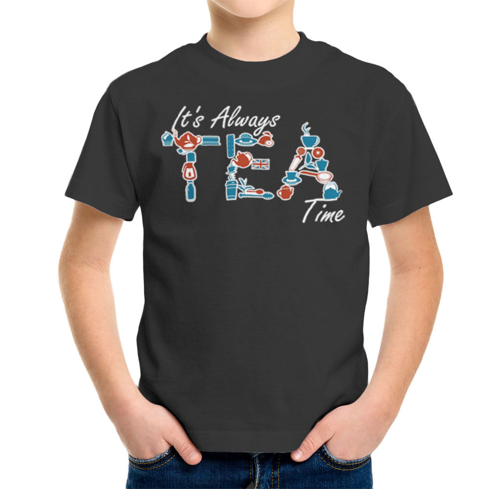 It's Always Tea Time Kid's T-Shirt Kid's Boy's T-Shirt Cloud City 7 - 4