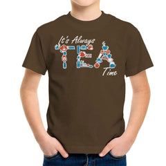 It's Always Tea Time Kid's T-Shirt Kid's Boy's T-Shirt Cloud City 7 - 12