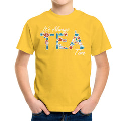 It's Always Tea Time Kid's T-Shirt Kid's Boy's T-Shirt Cloud City 7 - 17