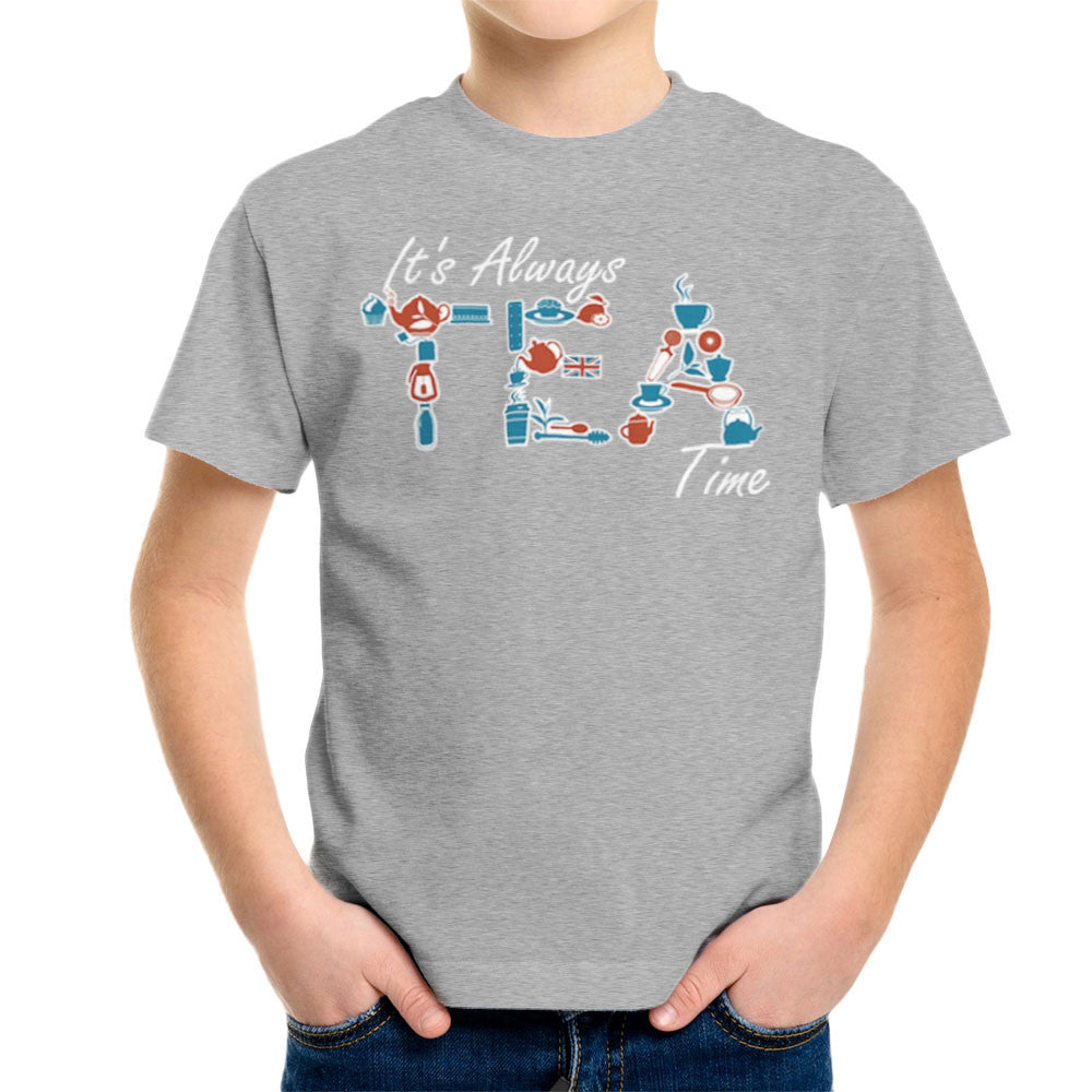 It's Always Tea Time Kid's T-Shirt Kid's Boy's T-Shirt Cloud City 7 - 5