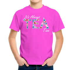 It's Always Tea Time Kid's T-Shirt Kid's Boy's T-Shirt Cloud City 7 - 19