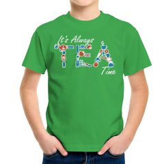 It's Always Tea Time Kid's T-Shirt Kid's Boy's T-Shirt Cloud City 7 - 14