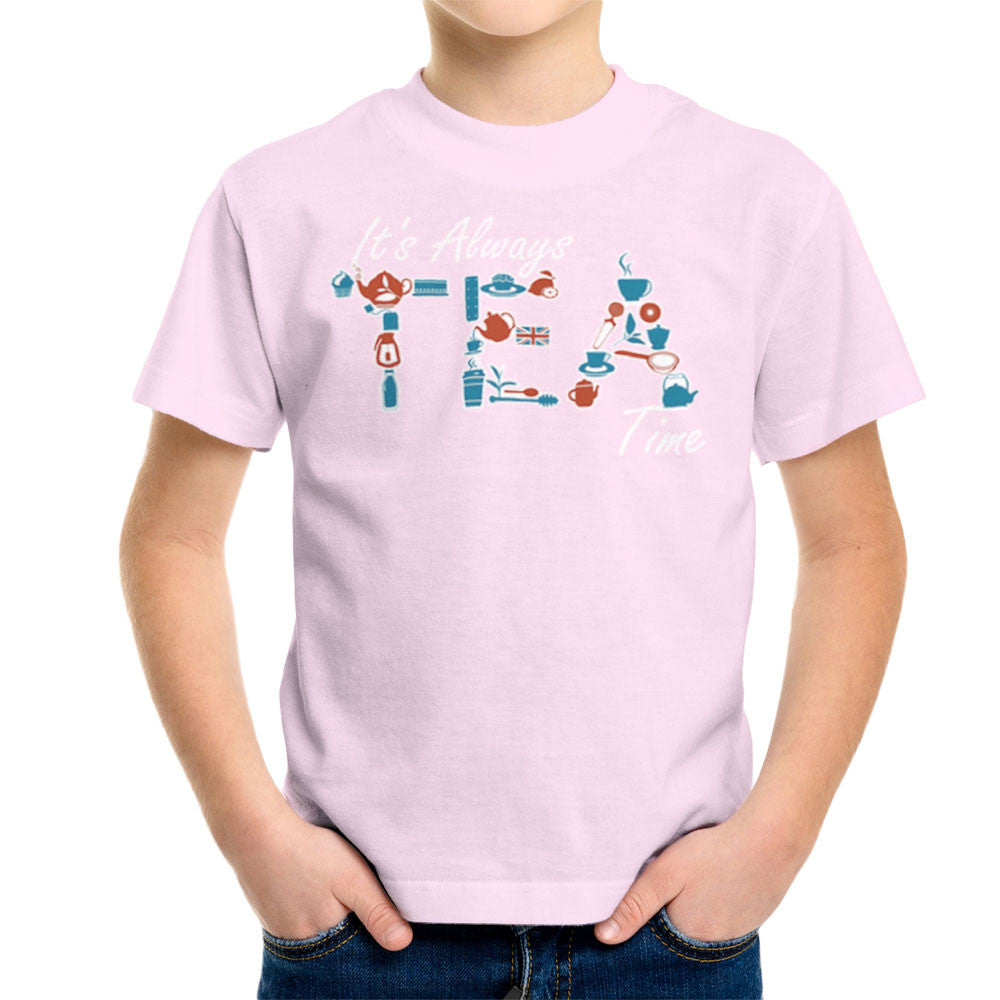 It's Always Tea Time Kid's T-Shirt Kid's Boy's T-Shirt Cloud City 7 - 20