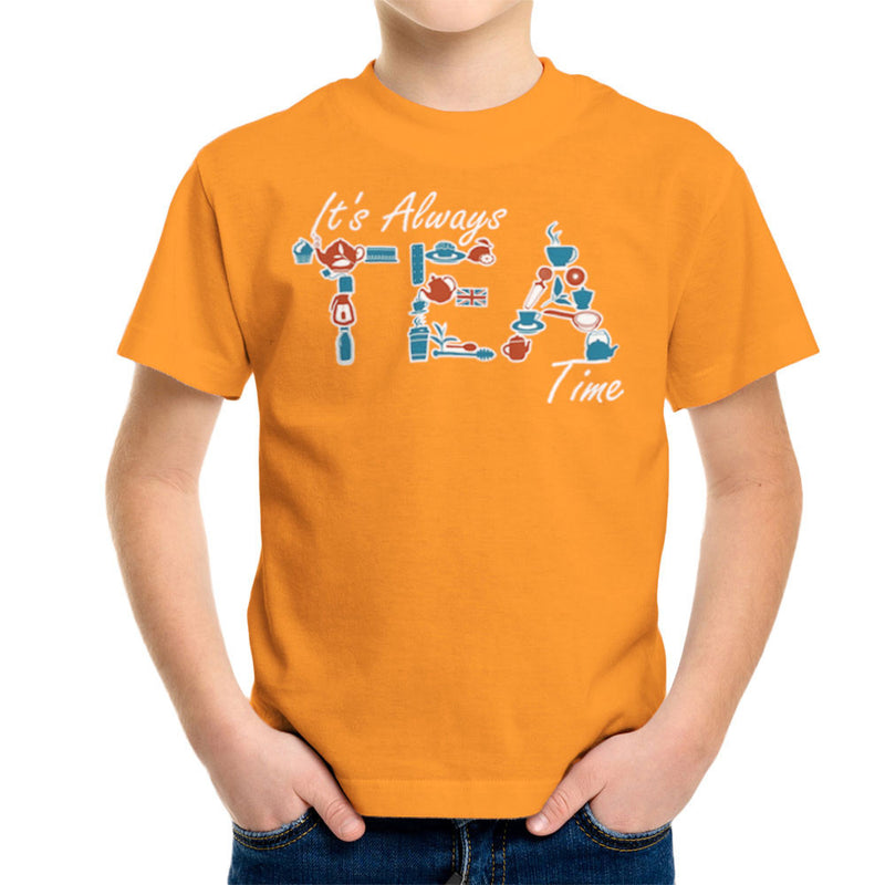 It's Always Tea Time Kid's T-Shirt by Kempo24 - Cloud City 7