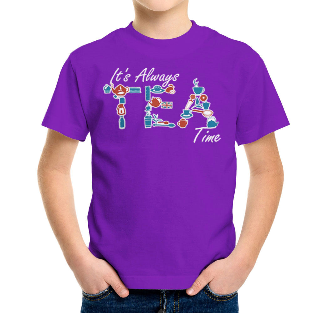 It's Always Tea Time Kid's T-Shirt Kid's Boy's T-Shirt Cloud City 7 - 18