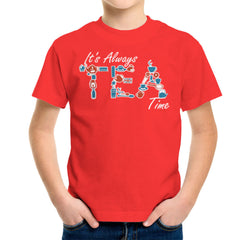 It's Always Tea Time Kid's T-Shirt Kid's Boy's T-Shirt Cloud City 7 - 15