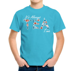 It's Always Tea Time Kid's T-Shirt Kid's Boy's T-Shirt Cloud City 7 - 10
