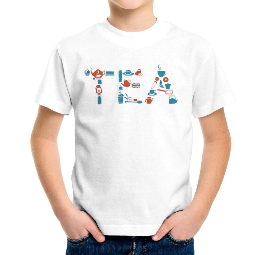 It's Always Tea Time Kid's T-Shirt Kid's Boy's T-Shirt Cloud City 7 - 6