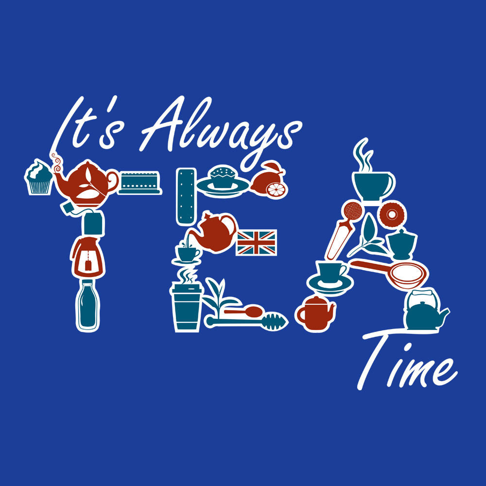 It's Always Tea Time Kid's T-Shirt Kid's Boy's T-Shirt Cloud City 7 - 3
