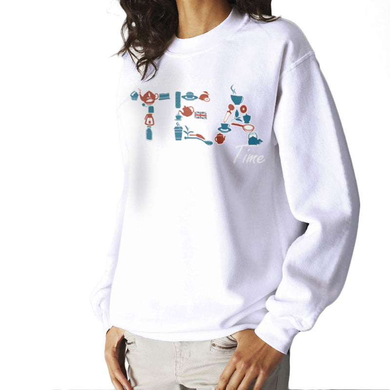 It's Always Tea Time Women's Sweatshirt Women's Sweatshirt Cloud City 7 - 6