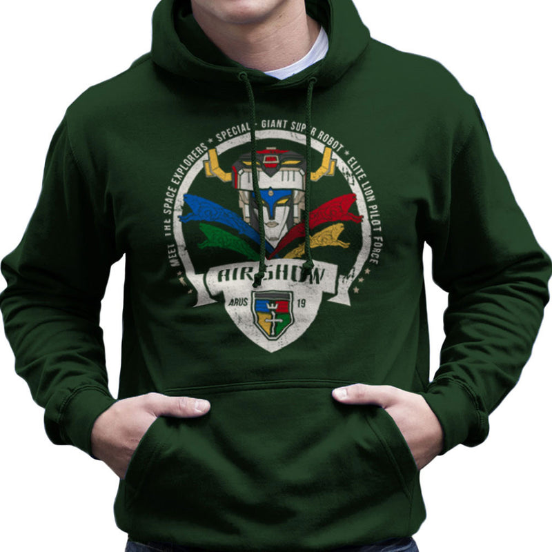Voltron Force Arus Air Show Elite Lion Pilot Men's Hooded Sweatshirt Men's Hooded Sweatshirt Cloud City 7 - 13