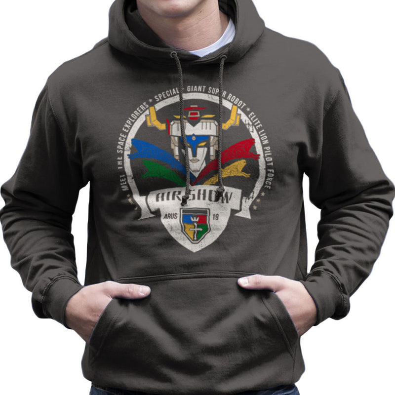 Voltron Force Arus Air Show Elite Lion Pilot Men's Hooded Sweatshirt Men's Hooded Sweatshirt Cloud City 7 - 4