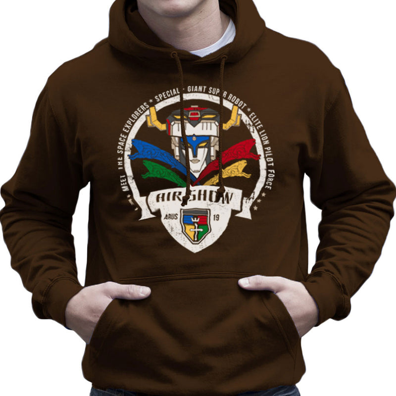 Voltron Force Arus Air Show Elite Lion Pilot Men's Hooded Sweatshirt Men's Hooded Sweatshirt Cloud City 7 - 12