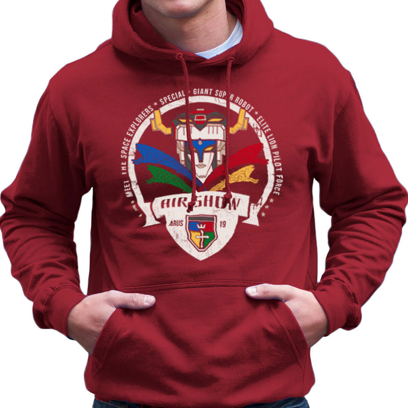 Voltron Force Arus Air Show Elite Lion Pilot Men's Hooded Sweatshirt Men's Hooded Sweatshirt Cloud City 7 - 15