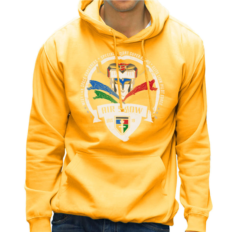 Voltron Force Arus Air Show Elite Lion Pilot Men's Hooded Sweatshirt Men's Hooded Sweatshirt Cloud City 7 - 18