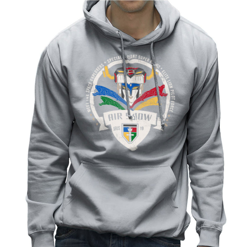 Voltron Force Arus Air Show Elite Lion Pilot Men's Hooded Sweatshirt Men's Hooded Sweatshirt Cloud City 7 - 5