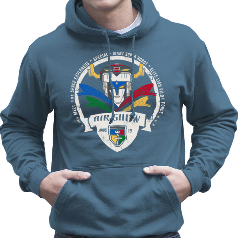 Voltron Force Arus Air Show Elite Lion Pilot Men's Hooded Sweatshirt Men's Hooded Sweatshirt Cloud City 7 - 9