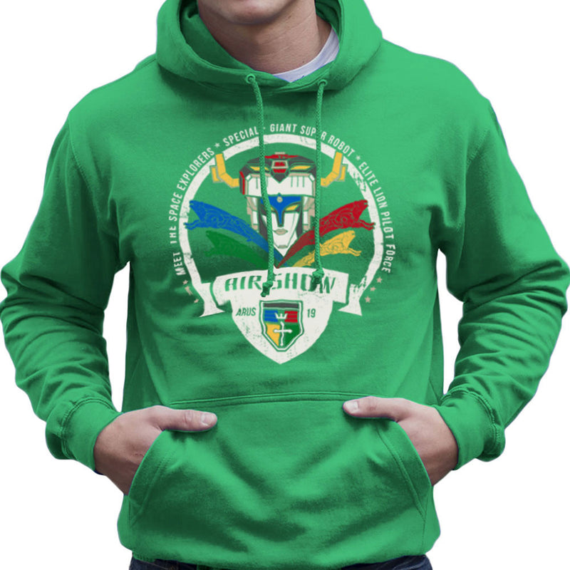 Voltron Force Arus Air Show Elite Lion Pilot Men's Hooded Sweatshirt Men's Hooded Sweatshirt Cloud City 7 - 14