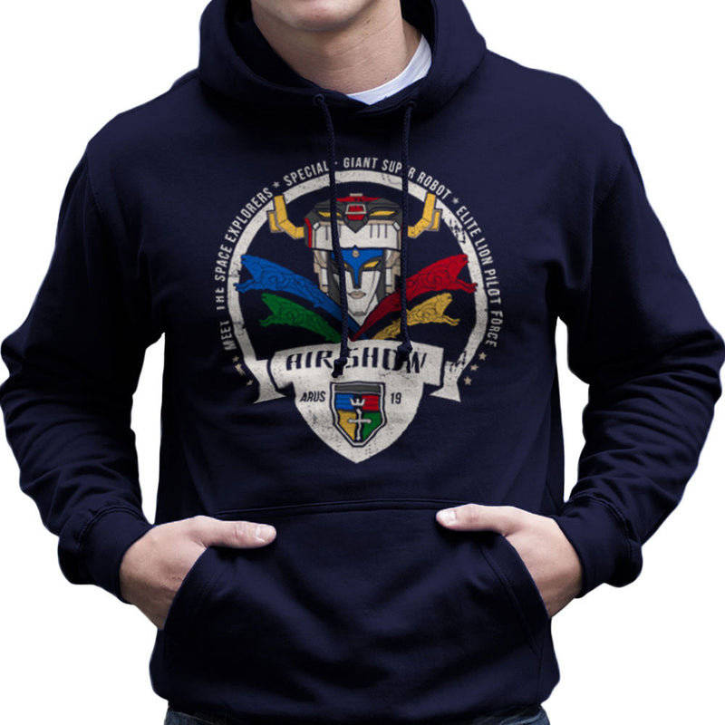 Voltron Force Arus Air Show Elite Lion Pilot Men's Hooded Sweatshirt Men's Hooded Sweatshirt Cloud City 7 - 7