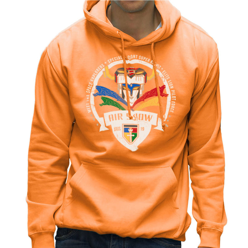 Voltron Force Arus Air Show Elite Lion Pilot Men's Hooded Sweatshirt Men's Hooded Sweatshirt Cloud City 7 - 17