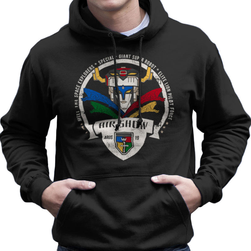 Voltron Force Arus Air Show Elite Lion Pilot Men's Hooded Sweatshirt Men's Hooded Sweatshirt Cloud City 7 - 1