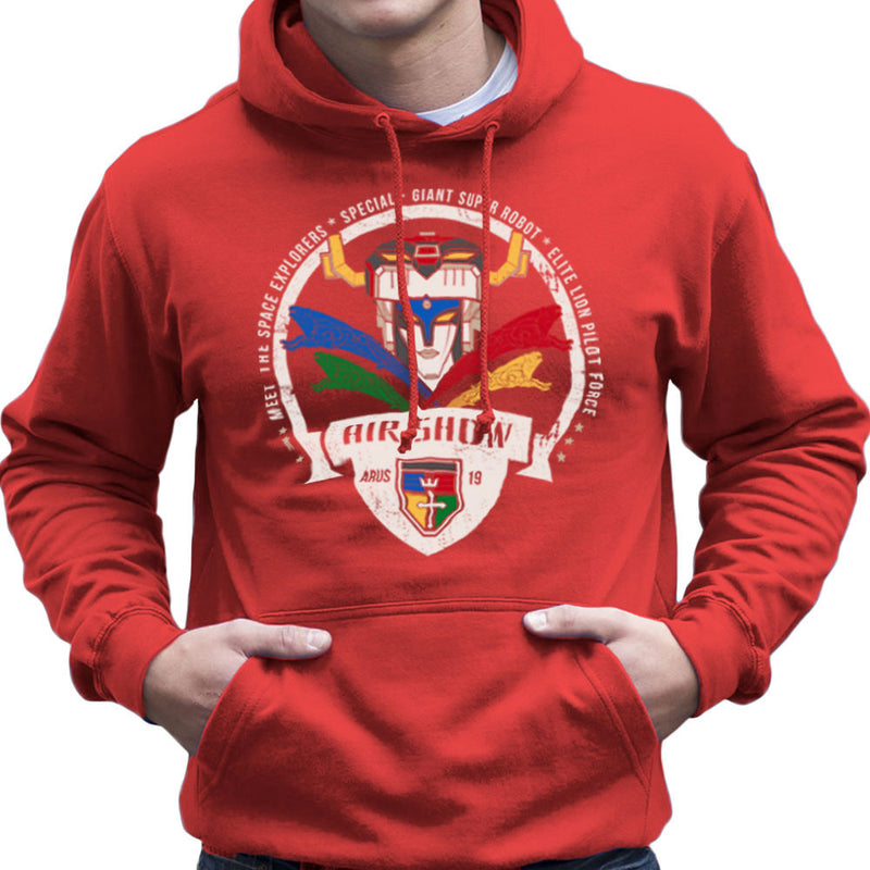Voltron Force Arus Air Show Elite Lion Pilot Men's Hooded Sweatshirt Men's Hooded Sweatshirt Cloud City 7 - 16