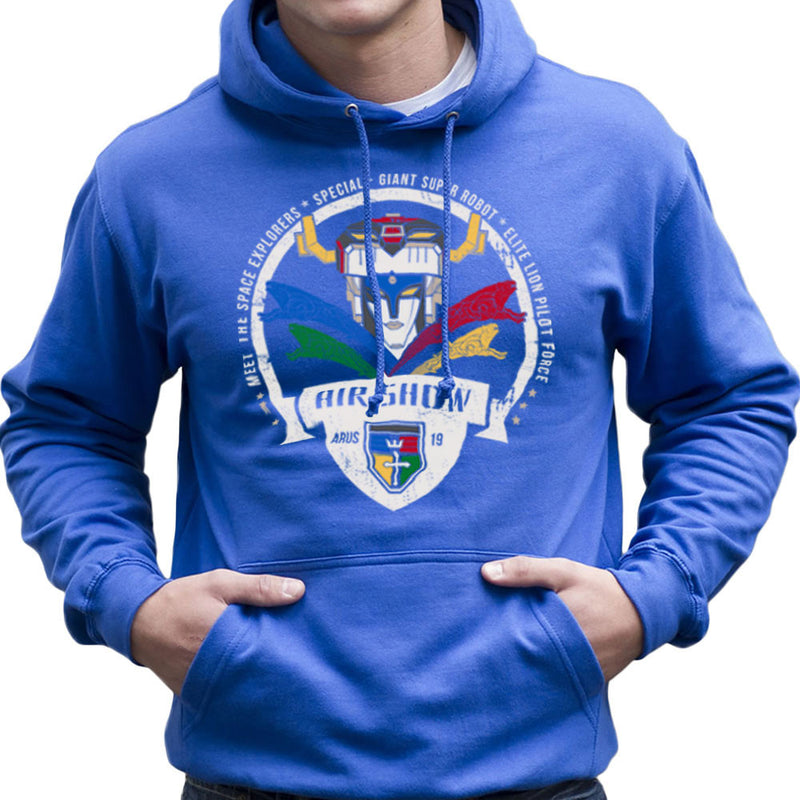 Voltron Force Arus Air Show Elite Lion Pilot Men's Hooded Sweatshirt Men's Hooded Sweatshirt Cloud City 7 - 8