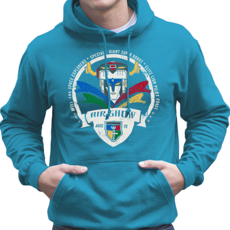 Voltron Force Arus Air Show Elite Lion Pilot Men's Hooded Sweatshirt Men's Hooded Sweatshirt Cloud City 7 - 10