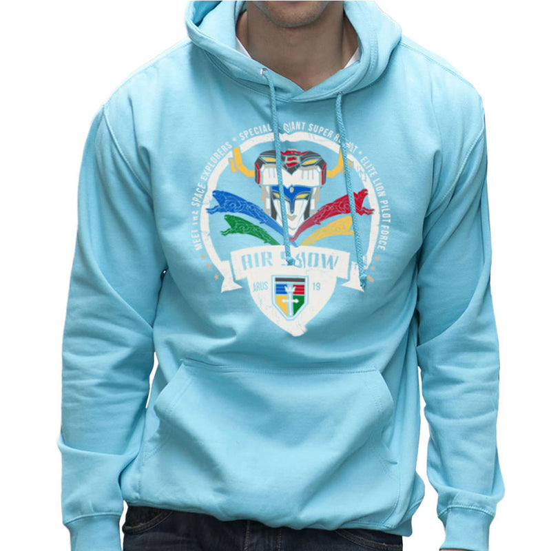 Voltron Force Arus Air Show Elite Lion Pilot Men's Hooded Sweatshirt Men's Hooded Sweatshirt Cloud City 7 - 11