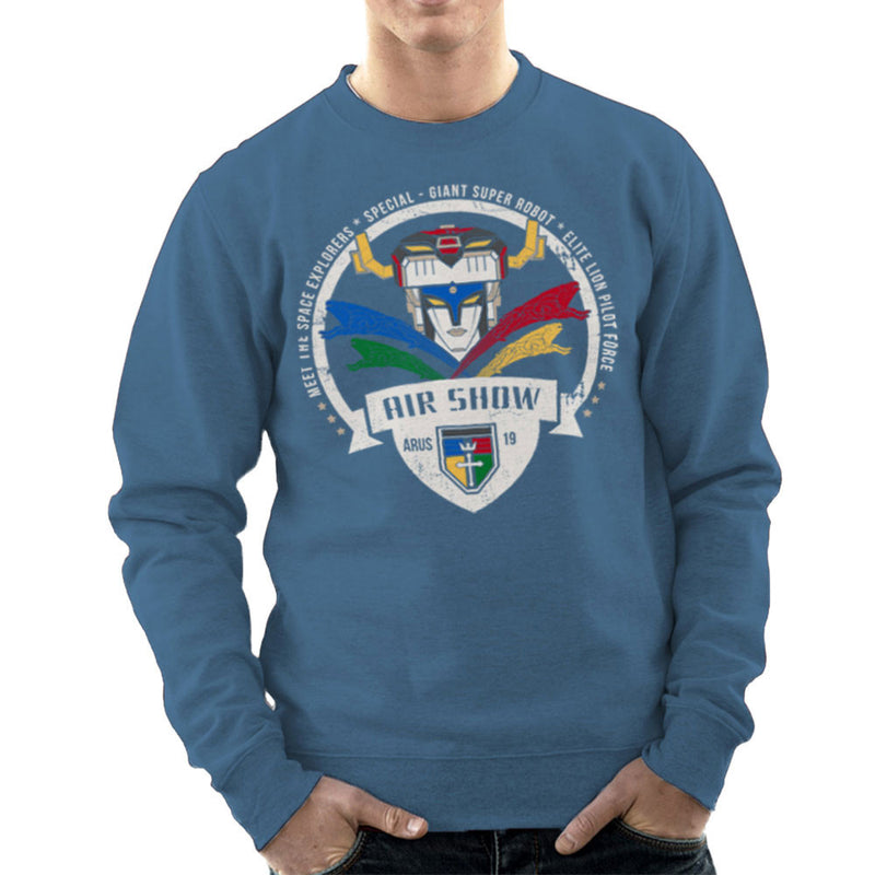 Voltron Force Arus Air Show Elite Lion Pilot Men's Sweatshirt by Kempo24 - Cloud City 7