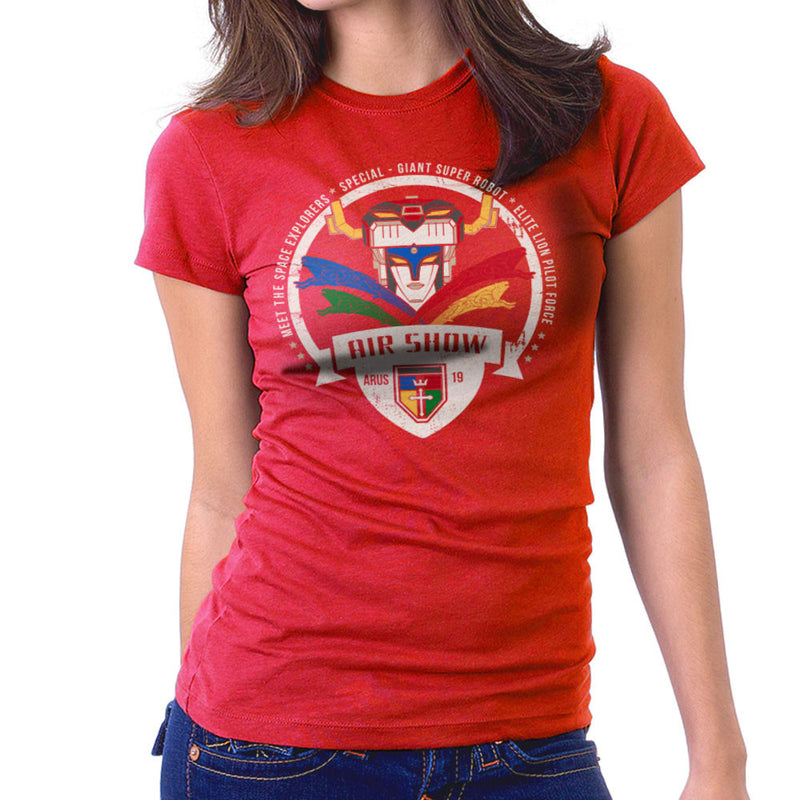 Voltron Force Arus Air Show Elite Lion Pilot Women's T-Shirt by Kempo24 - Cloud City 7