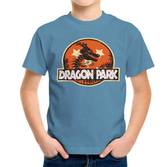 Dragon Ball Z Shenron Jurassic Park Kid's T-Shirt Kid's Boy's T-Shirt Cloud City 7 - 9