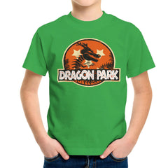 Dragon Ball Z Shenron Jurassic Park Kid's T-Shirt Kid's Boy's T-Shirt Cloud City 7 - 14