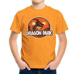 Dragon Ball Z Shenron Jurassic Park Kid's T-Shirt Kid's Boy's T-Shirt Cloud City 7 - 16