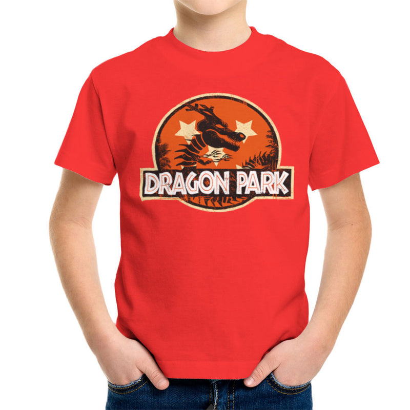 Dragon Ball Z Shenron Jurassic Park Kid's T-Shirt by Kempo24 - Cloud City 7