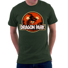 Dragon Ball Z Shenron Jurassic Park Men's T-Shirt Men's T-Shirt Cloud City 7 - 1