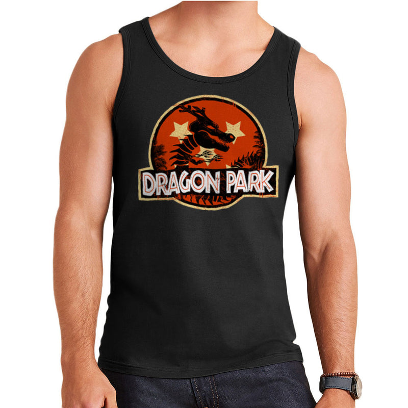 Dragon Ball Z Shenron Jurassic Park Men's Vest by Kempo24 - Cloud City 7