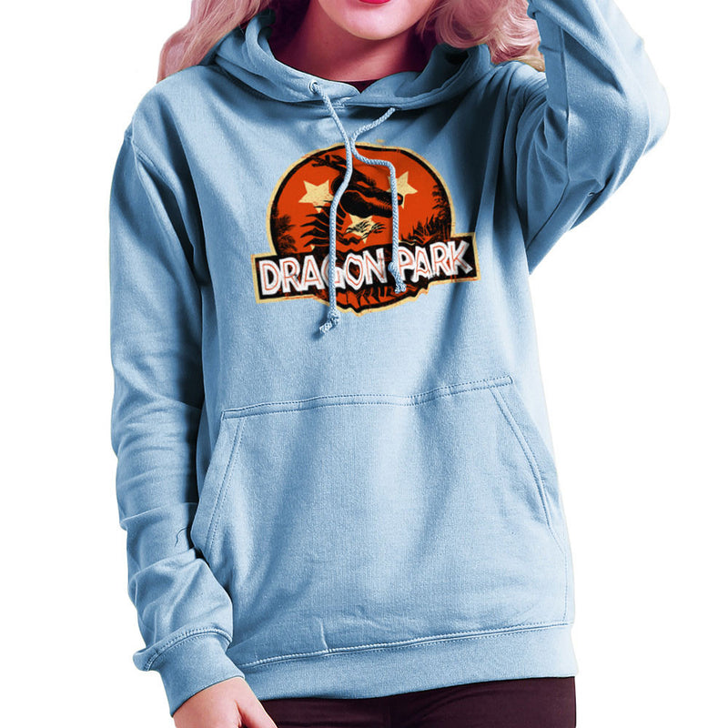 Dragon Ball Z Shenron Jurassic Park Women's Hooded Sweatshirt by Kempo24 - Cloud City 7