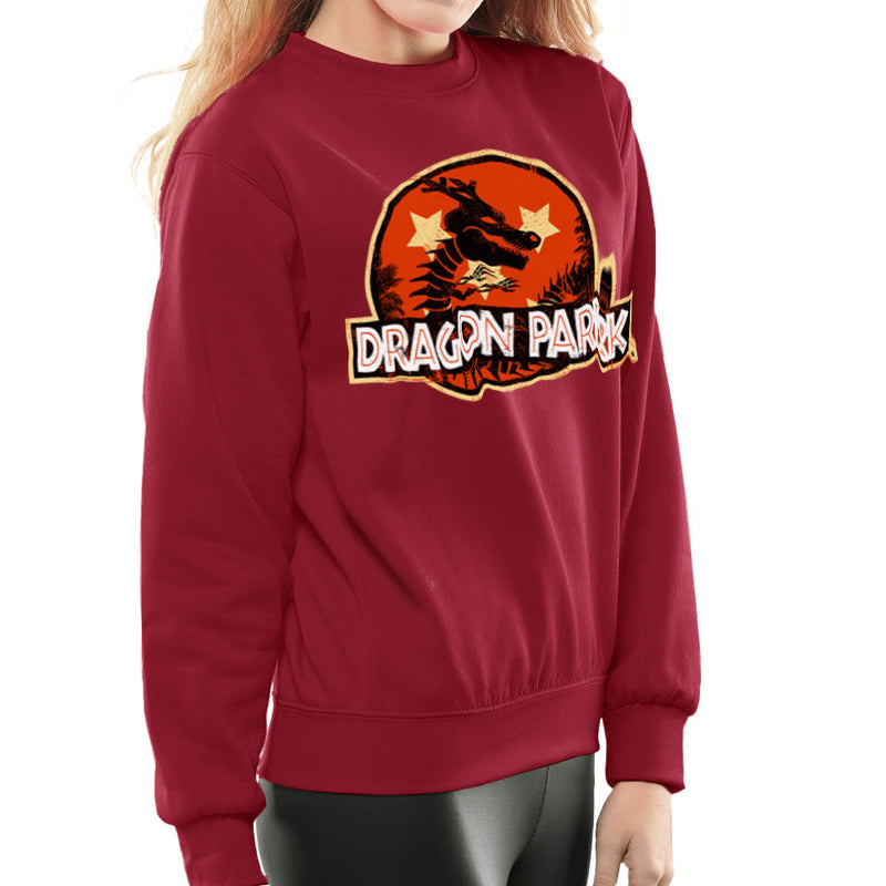 Dragon Ball Z Shenron Jurassic Park Women's Sweatshirt by Kempo24 - Cloud City 7