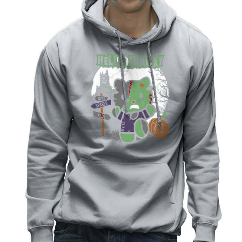 Hello Franky Kitty Frankenstein Men's Hooded Sweatshirt by Kempo24 - Cloud City 7